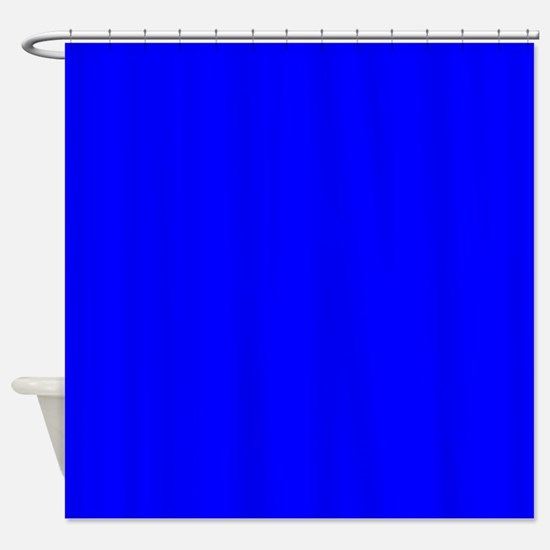 Simply Blue Solid Color Shower Curtain