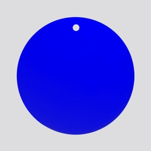 Simply Blue Solid Color Round Ornament