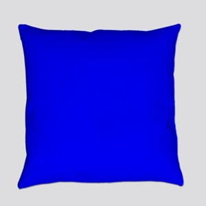 Simply Blue Solid Color Everyday Pillow