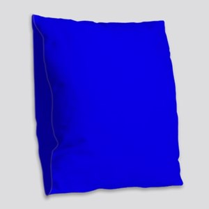 Simply Blue Solid Color Burlap Throw Pillow