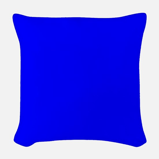 Simply Blue Solid Color Woven Throw Pillow