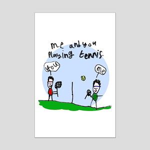 Tennis Mini Poster Print