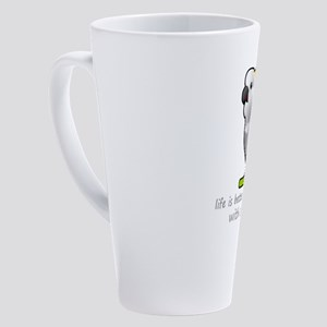 life is better with a parrot 17 oz Latte Mug