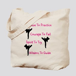 Pink Courage Tote Bag