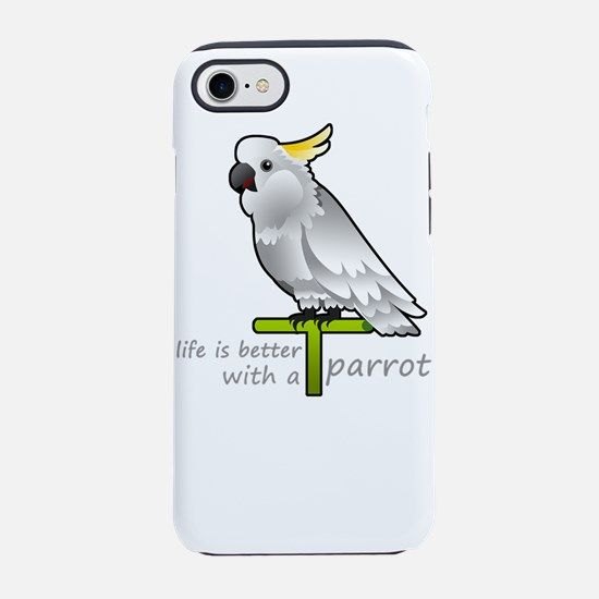 life is better with a parrot iPhone 8/7 Tough Case
