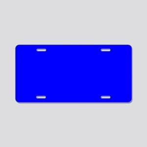 Simply Blue Solid Color Aluminum License Plate