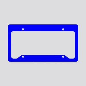 Simply Blue Solid Color License Plate Holder