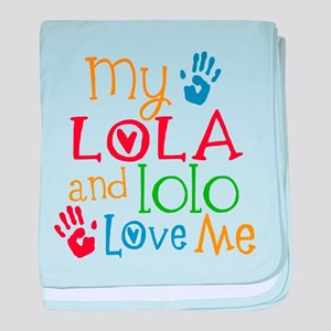 Lola and Lolo Love Me baby blanket