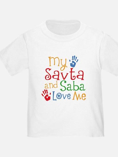 Savta and Saba Love Me T-Shirt