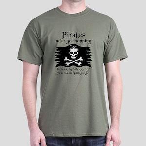 Pirates on Shopping Dark T-Shirt
