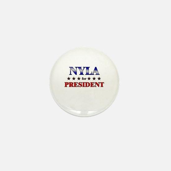 NYLA for president Mini Button