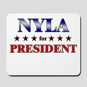 NYLA for president Mousepad