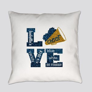 Cheerleader Love Personalize Everyday Pillow