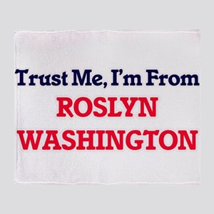 Trust Me, I'm from Roslyn Washington Throw Blanket