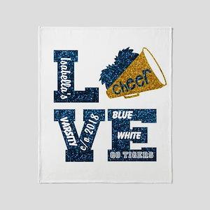 Cheerleader Love Personalize Throw Blanket