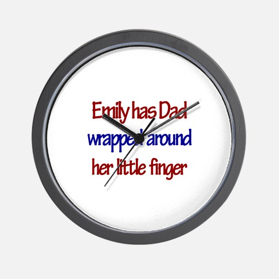 Emily Has Dad Wrapped Around Wall Clock