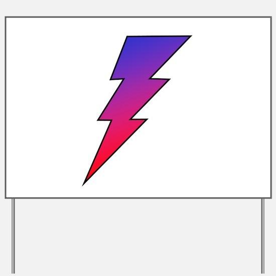 The Lightning Bolt 2 Shop Yard Sign