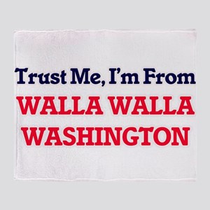 Trust Me, I'm from Walla Walla Washi Throw Blanket