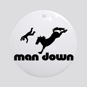 man down bronc Ornament (Round)