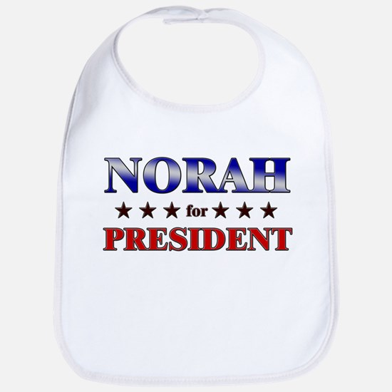 NORAH for president Bib