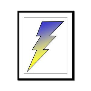The Lightning Bolt 3 Shop Framed Panel Print