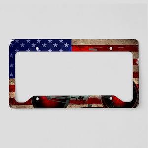 Vintage American Flag Bike License Plate Holder