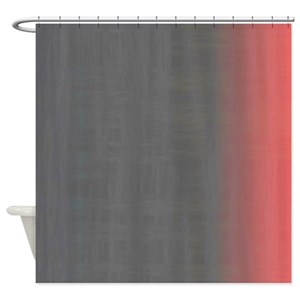 Peach And Gray Shower Curtains