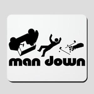 man down golfer Mousepad