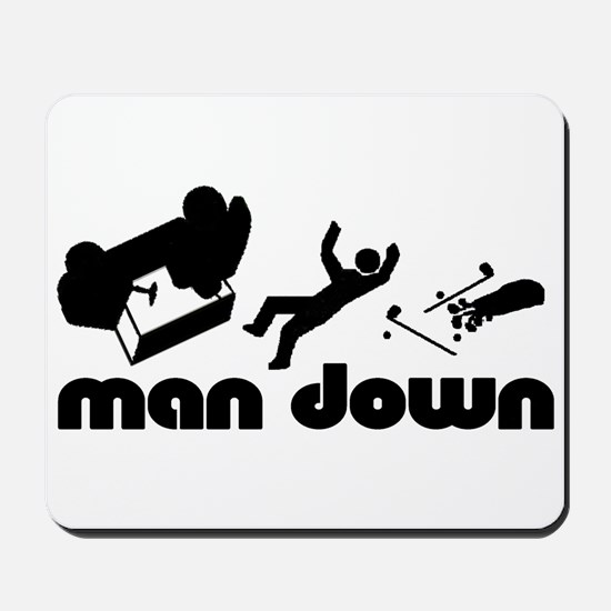 man down golfer Mousepad