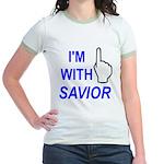 I'm With SAVIOR! Jr. Ringer T-Shirt