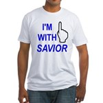 I'm With SAVIOR! Fitted T-Shirt