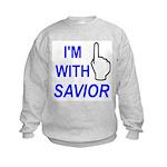 I'm With SAVIOR! Kids Sweatshirt