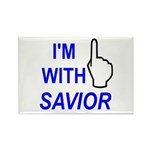 I'm With SAVIOR! Rectangle Magnet (10 pack)