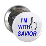 """I'm With SAVIOR! 2.25"""" Button (100 pack)"""