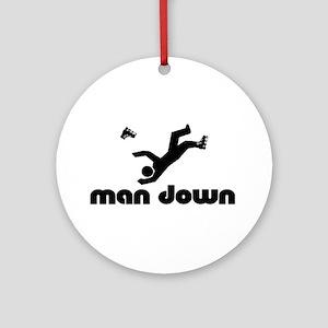 man down rollerblader Ornament (Round)