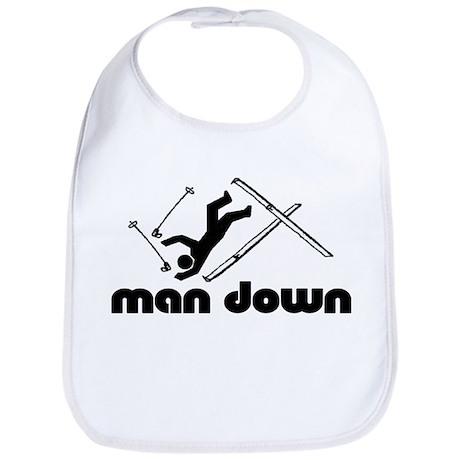 man down skier Bib