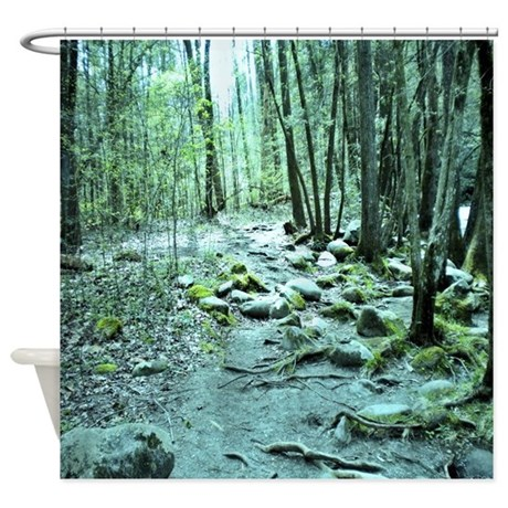 Enchanted Forest Nature Scene Shower Curtain By Suit Yourself