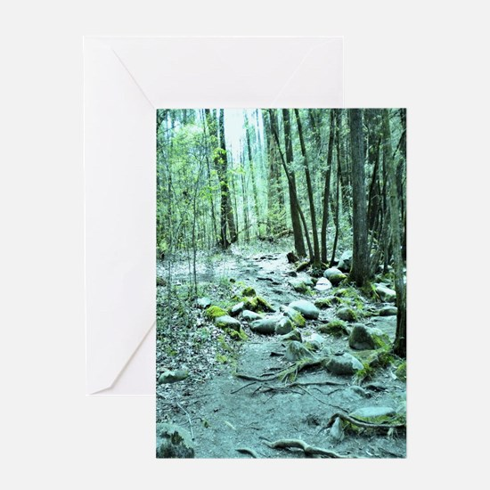 Enchanted Forest Nature Scene Greeting Card
