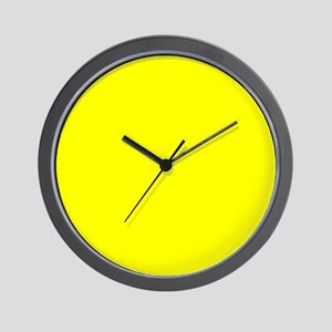 Simply Yellow Solid Color Wall Clock