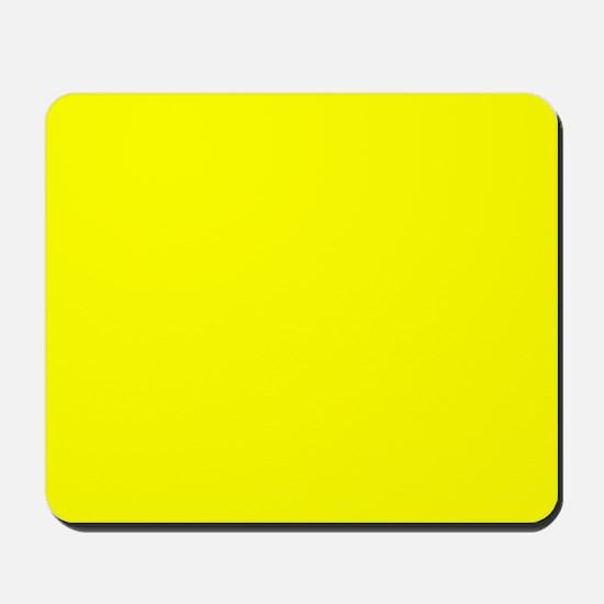 Simply Yellow Solid Color Mousepad