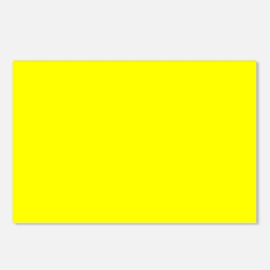 Simply Yellow Solid Color Postcards (Package of 8)