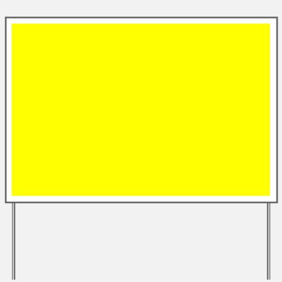 Simply Yellow Solid Color Yard Sign