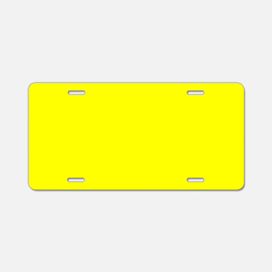 Simply Yellow Solid Color Aluminum License Plate