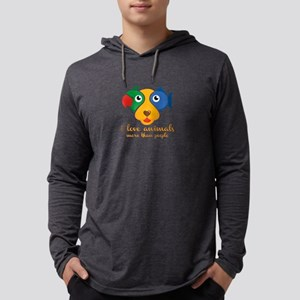 i love animals more than peopl Long Sleeve T-Shirt