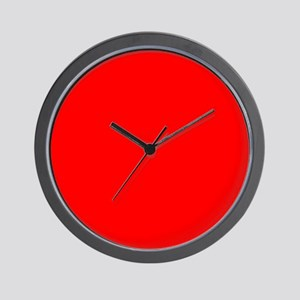 Simply Red Solid Color Wall Clock