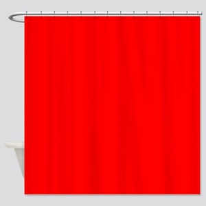 Simply Red Solid Color Shower Curtain