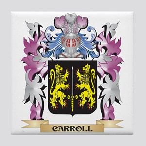 Carroll Coat of Arms (Family Crest) Tile Coaster