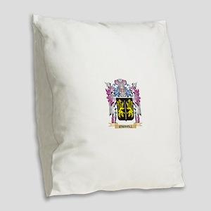 Carroll Coat of Arms (Family C Burlap Throw Pillow