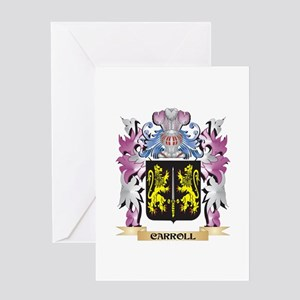 Carroll Coat of Arms (Family Crest) Greeting Cards