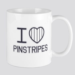 I Love Pinstripes Stainless Steel Travel Mugs